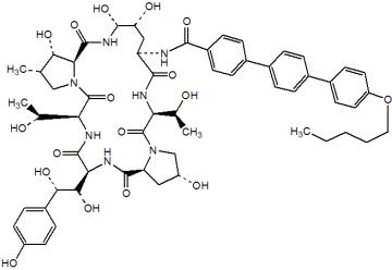 Strukturformel Anidulafungin